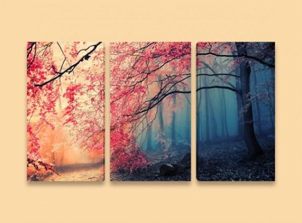 Картина Есен в гората