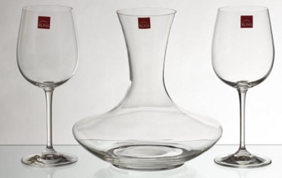 Сет за двама - гарафа и 2 чаши за вино