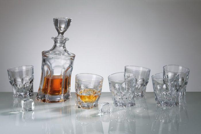 Комплект за уиски Акапулко, 7 части, Crystalite Bohemia