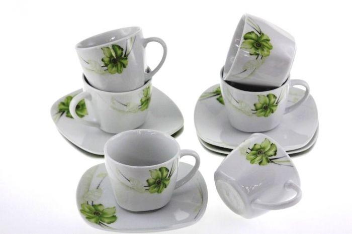 Сервиз за кафе Нарцис, порцелан, 12 части