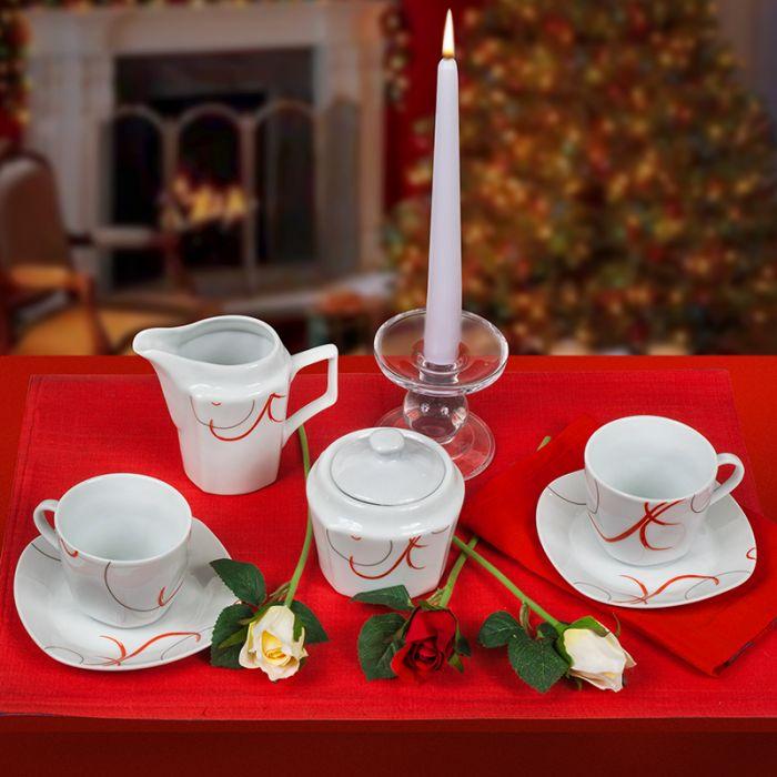 Сервиз за чай и кафе Red Line, Lancaster, 14 части