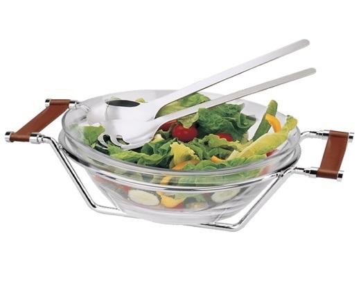 Съд за салата 25 см + комплект прибори за сервиране, серия CADIZ