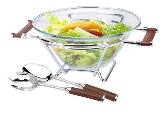 Съд за салата 30 см + комплект прибори за сервиране, серия CADIZ