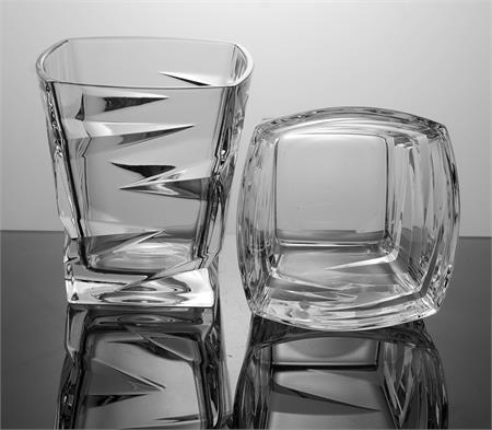 Кристални чаши за уиски Зиг Заг Бохемия