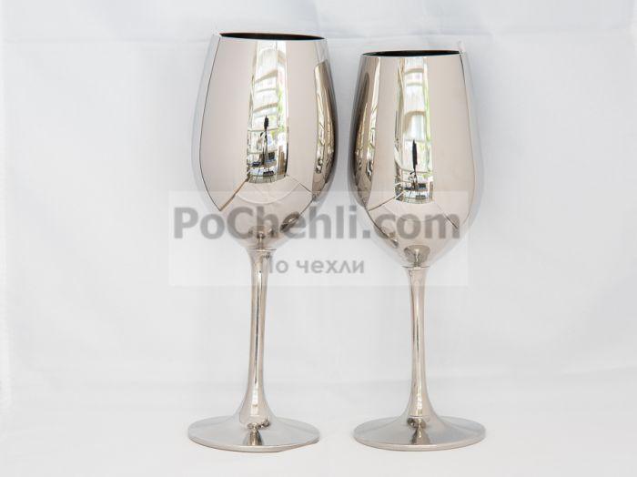 Метализирана чаша за вино