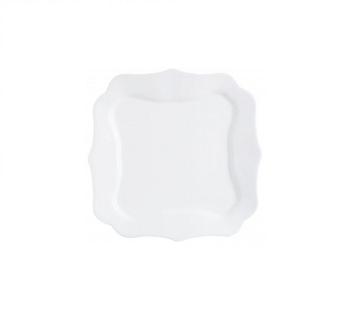 Чинии Luminarc Authentic десертни, 20.5 см, 6 бр. бели