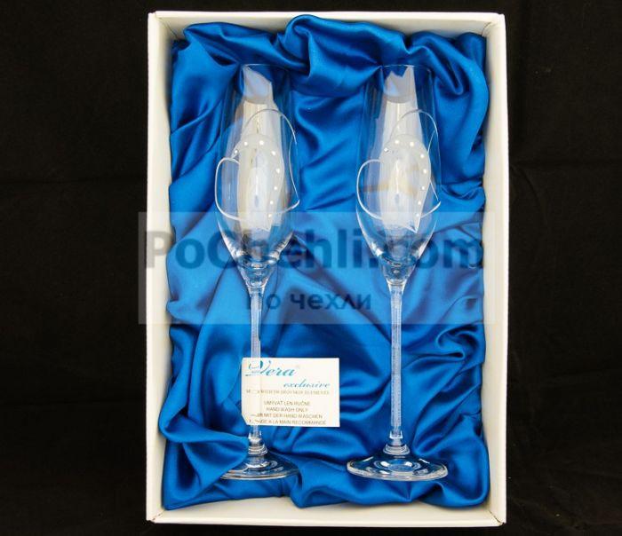Чаши за шампанско Heart Deco, елементи Swarovski, Vera Exclusive, Словакия