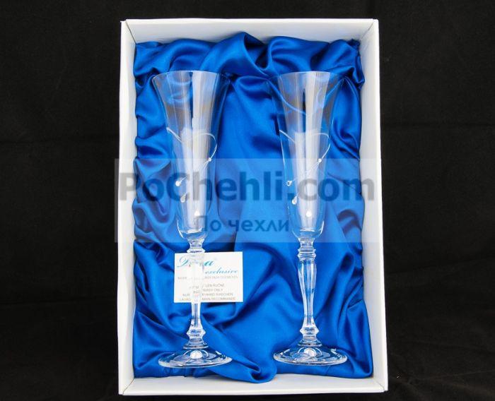 Чаши за шампанско Diamant Flute, елементи Swarovski, Vera Exclusive, Словакия