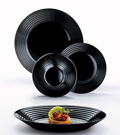 Сервиз за хранене Harena Black Luminarc, 19 части