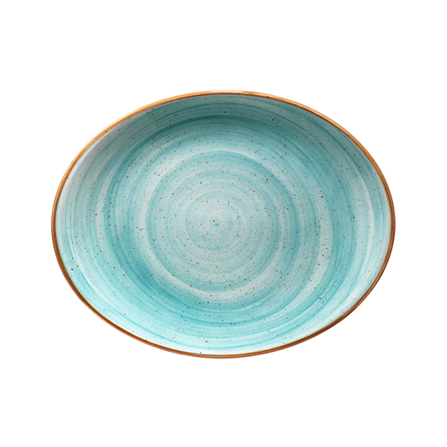 Порцеланова чиния овал Aqua 31 см, Bonna Турция