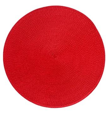 Подложки за хранене кръг, червени, 6 бр.