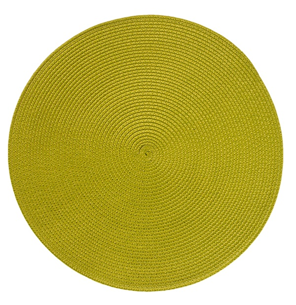 Подложки за хранене кръг, светло зелени, 6 бр.