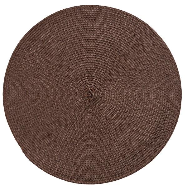 Подложки за хранене кръг, тъмно кафяви, 6 бр.
