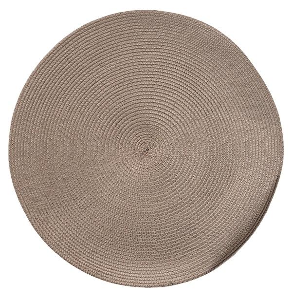 Подложки за хранене кръг, сиви, 6 бр.