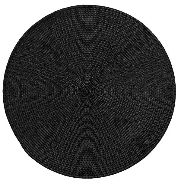 Подложки за хранене кръг, черни, 6 бр.