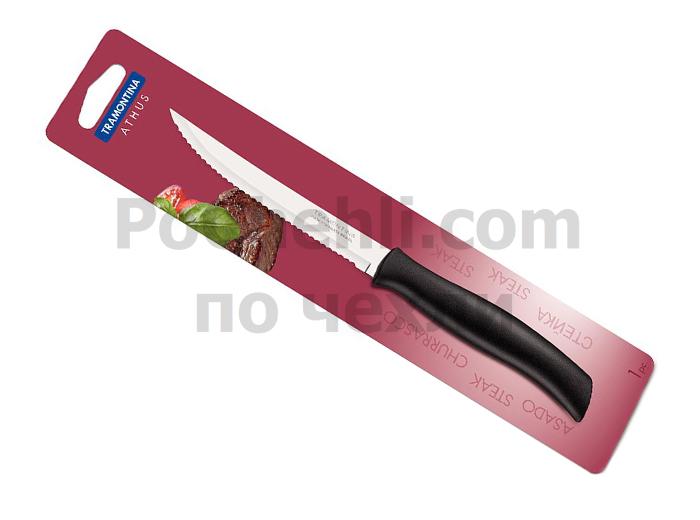 Нож за стек с черна дръжка, 1 бр., Athus Tramontina