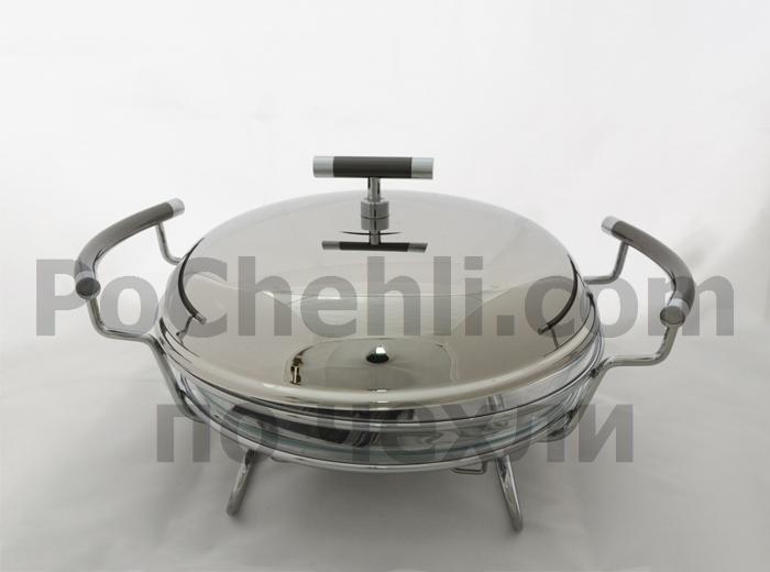 Съд за топло сервиране Regent Perle Titanium, кръгъл