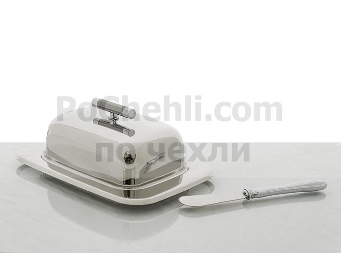 Кутия за масло с ножче Regent Perle Titanium