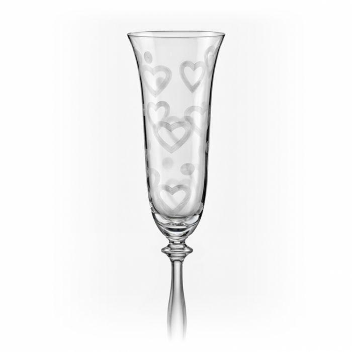 Ритуални чаши Сърца, 190 мл, Crystalex Bohemia