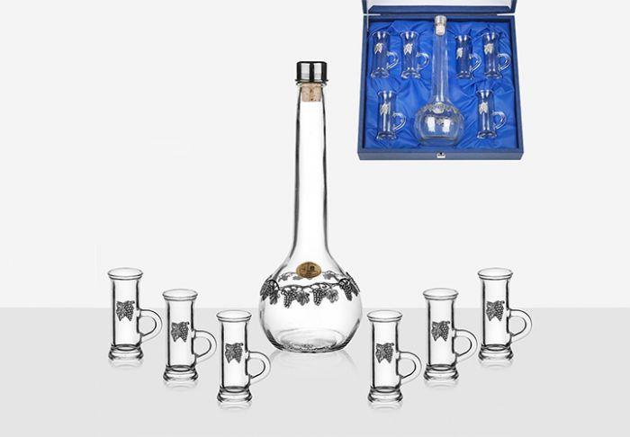 Гарафа Лоза с 6 чаши за ракия