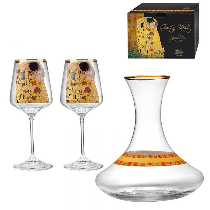 Декантер с чаши за вино Целувката