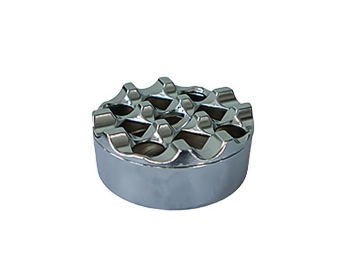 Пепелник хром кръгъл, ветроустойчив