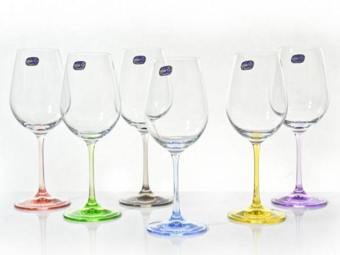 Чаши за вино кристал Бохемия rainbow