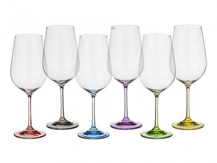 Чаши за червено вино Bohemia 550 мл цветно столче