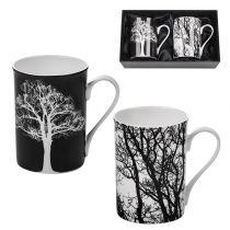 Мъгове Дървета, черно и бяло