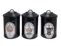 Метални кутии за кафе, захар, чай, черни