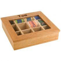 APS кутия за чай, дървена