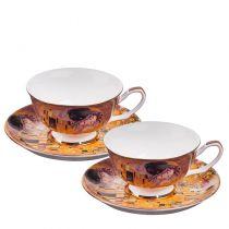 Чаши за кафе костен порцелан Целувката