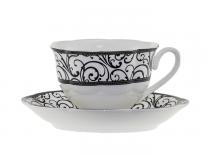 Чаши за кафе и чай Черна дантела