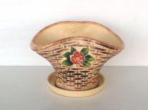 """Керамична саксия """"Цвете"""" голяма 5544 - Pochehli"""