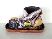 """Керамична саксия """"Обувка"""""""