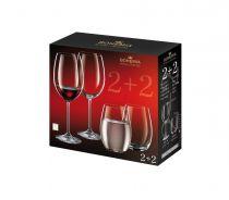 Bohemia чаши за вино и вода 2 + 2