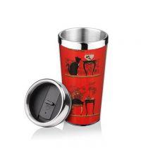 термочаша черна котка lancaster taste collection