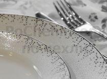 Сервиз за хранене със сребриста декорация  8094 - Pochehli