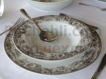 Порцеланови чинии Рози в кафяво 8511 - Pochehli