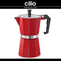 Червена класическа кафеварка CILIO