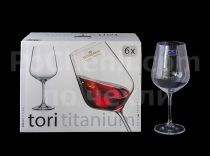 Чаши за вино 600 мл Tori Titanium Bohemia 5799 - Pochehli