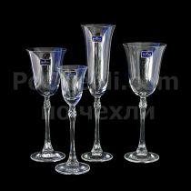 Чаши за вино Bohemia Fuchsia 7658 - Pochehli