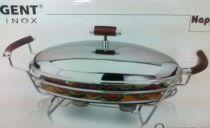 Съд за топло сервиране с подгряващи свещи, елипса, серия NAPPA