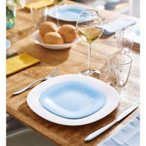 Комбиниран сервиз за хранене Carine в бяло и синьо
