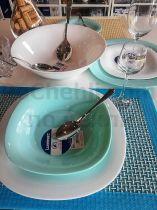 Carine Turquoise and white dinner ser 10354 - Pochehli