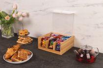 Бамбукова кутия за чай с акрилен капак, 6 отделения, KESPER Германия 6681 - Pochehli
