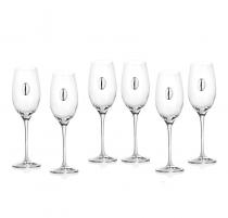 RCR Invino Чаши за бяло вино със сребърна плочка за гравиране