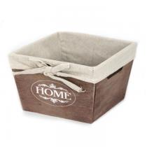 дървена кутия за съхранение 19 см кафява