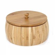 бамбукова купа с капак 17 см