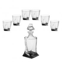 сет за уиски QUADRO BOHEMIA CRYSTALITE
